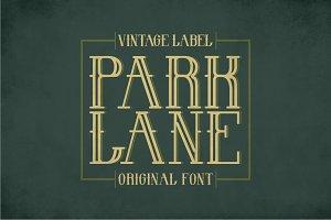 Park Lane Vintage Label Typeface