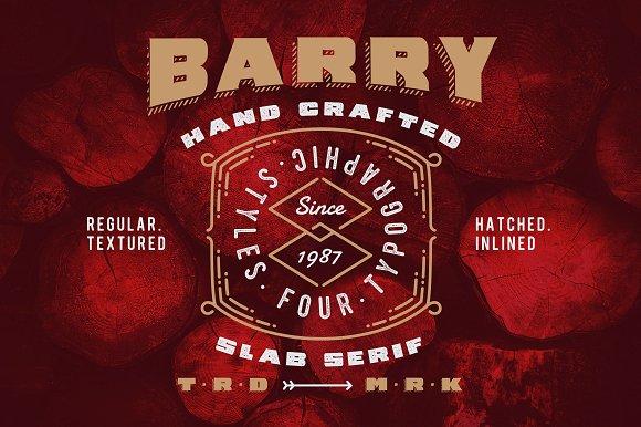 Barry 4 Font Styles Bonus