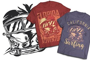 Adventure T-shirts And Poster Labels