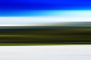 Horizontal motion blur landscape background