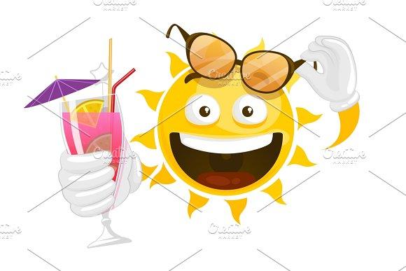 Cartoon Smiley Sun
