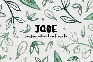 Jade - Watercolor Leaf Pack