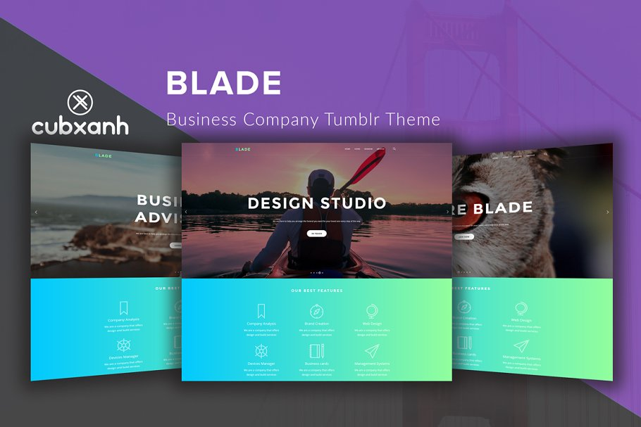 Blade - Business Tumblr Theme