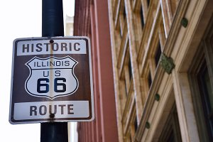 Historic Illinois Route 66.