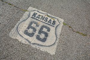 Route 66 in Kansas.