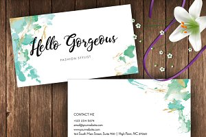 Abstract Water Colour Namecard- ID41