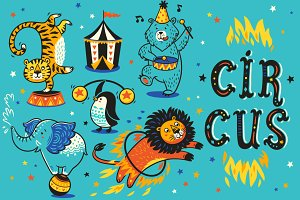 Circus patterns & birthday cards