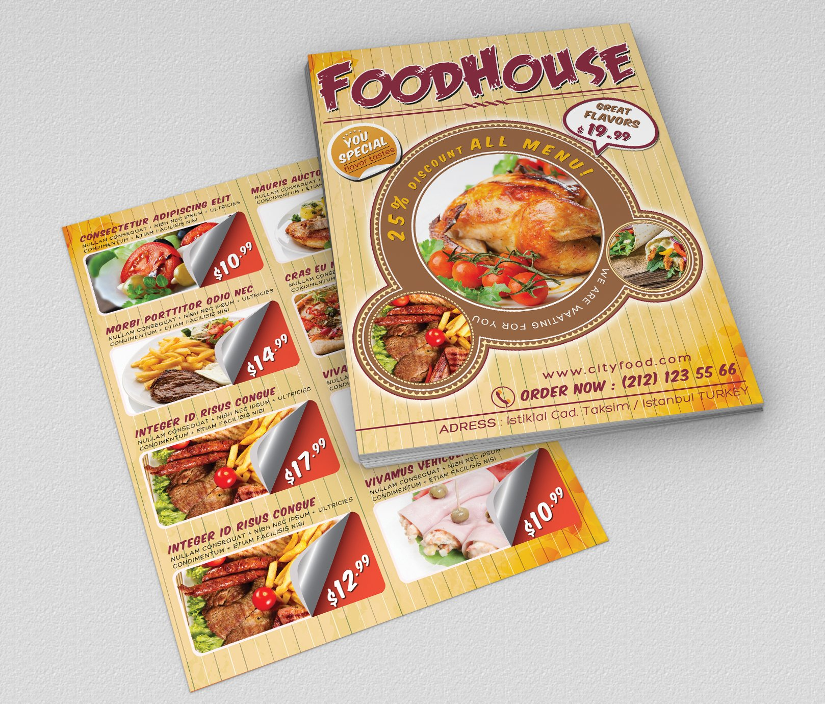 fast food flyer 01 flyer templates creative market
