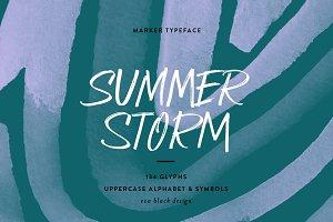 Summer Storm Marker Font