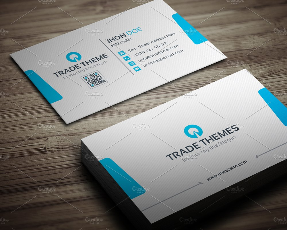 Trade Theme Business Card ~ Business Card Templates ~ Creative Market