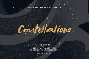 Constellations Textured Script