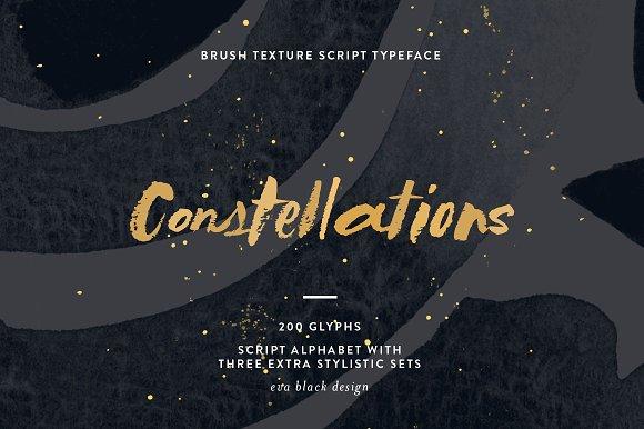 Constellations Textured Script