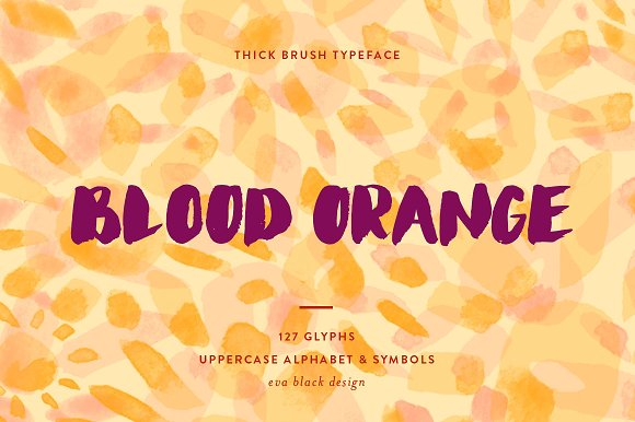 Blood Orange Brush Font