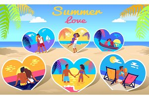 Couple in Love on Sea Photos on Beach Background