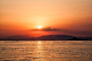 Sunset in Mar Menor