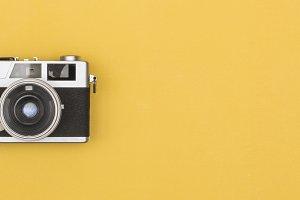 retro camera header