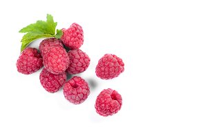 Raspberry pattern isolated on white