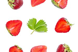 Strawberry pattern isolated on white