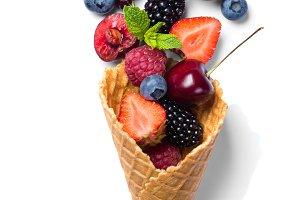 Low calories dessert concept