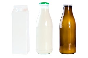 Milk Bottles And Carton