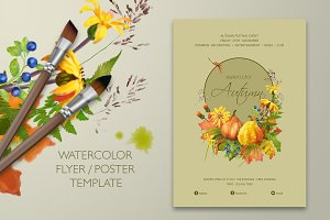 Watercolor Autumn Flyer / Poster