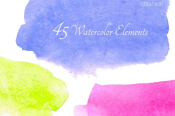 Watercolour Brush Strokes Clipart