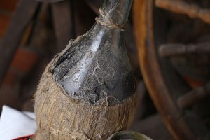 Traditional bottle of wine
