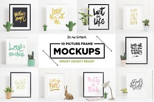 10 picture frame mockups bundle