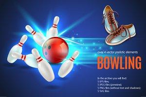 Bowling Realistic Set