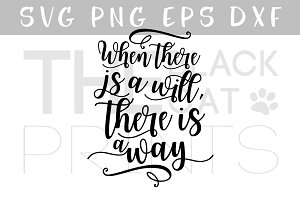 Inspirational quote SVG PNG EPS DXF