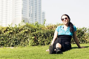 Tourist To Dubai Taking A Break