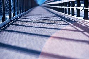 Transport Norway bridge with light leak background
