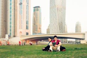 Tourists To Dubai Taking A Break
