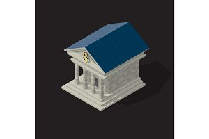 Vector illustration of bank building