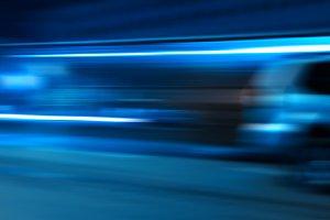 Rushing car light traces