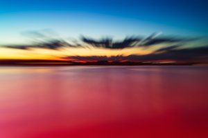 Burning sunset abstraction