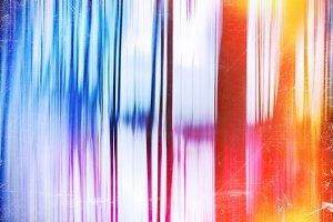 Vertical vivid vintage motion blur curtains with dust backdrop