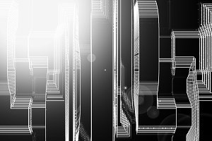 Vertical black and white skyscrapers abstract llustration backgr