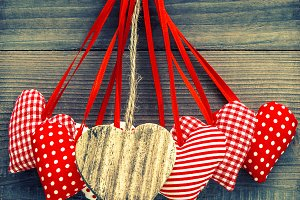 Lovely Red Hearts Decoration