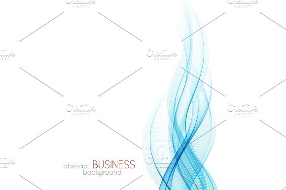 Abstract Vector Background Blue Wavy