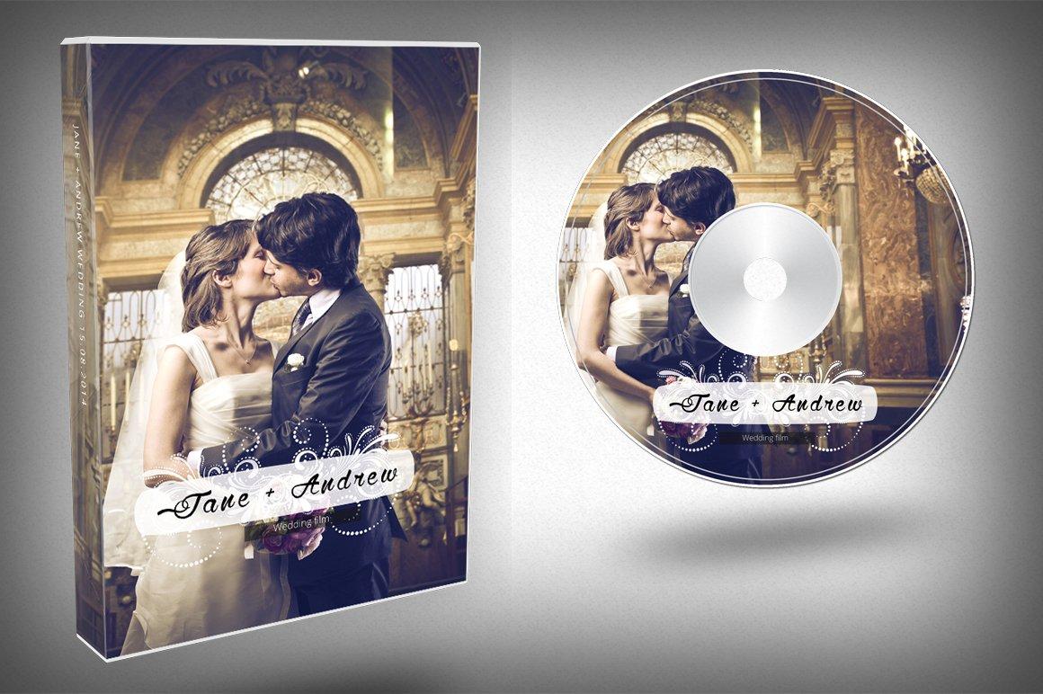 Elegant wedding dvd cover templates creative market pronofoot35fo Choice Image