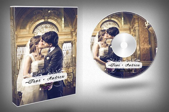 Elegant Wedding DVD Cover ~ Templates ~ Creative Market