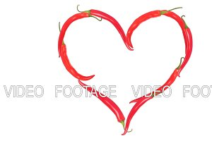 Valentine card red pepper
