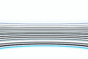 Curved blue virtual reality lines illustration background