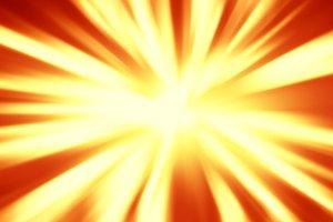 Horizontal orange sun rays abstraction background