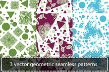 3 vector seamless patterns