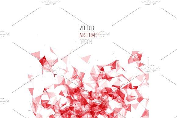 Wireframe Mesh Polygonal Background