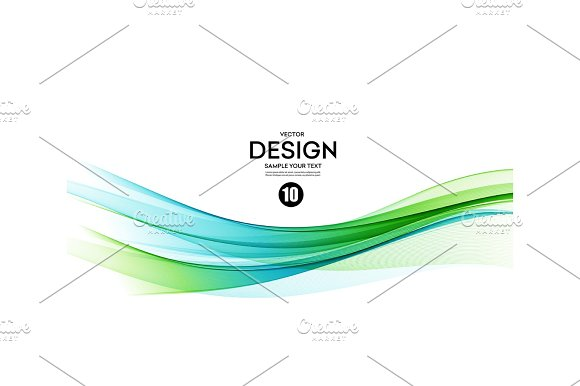 Abstract Vector Background Blue And Green Wavy
