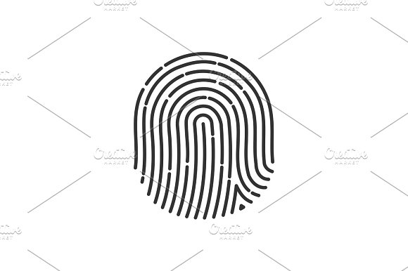 Flat Fingerprint Icon App