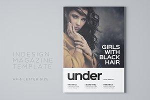 Under Magazine Template